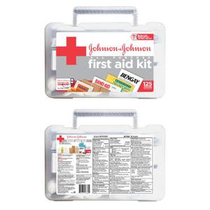 Johnson & Johnson Red Cross® All-Purpose First Aid Kit, 125 Items